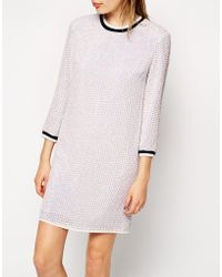 Asos Iridescent Sequin Tunic Dress with Rib - Lyst