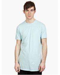 DRKSHDW by Rick Owens Men'S Sky Cotton T-Shirt blue - Lyst