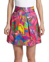 Milly Tropical Print Skirt multicolor - Lyst