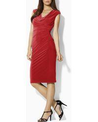 Ralph Lauren Matte Jersey Dress - Lyst