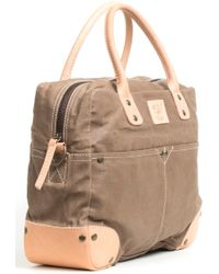 Will Leather Goods Canvas Flight Bag - Lyst