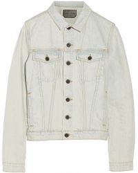 Proenza Schouler Faded Denim Jacket - Lyst