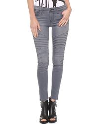 Current/Elliott The Moto Ankle Skinny Briggs - Lyst