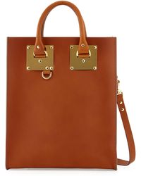Sophie Hulme Buckled Leather Tote Bag - Lyst