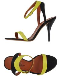 Michel Vivien Green Sandals - Lyst