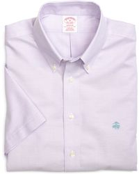 Brooks Brothers Non-Iron Madison Fit Oxford Short-Sleeve Sport Shirt - Lyst