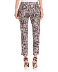 Haute Hippie | The Tailored Snake-print Pants | Lyst