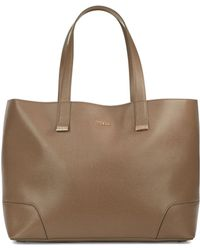 Furla Stacy Large Leather Tote brown - Lyst