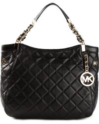 Michael by Michael Kors Susannah Quilted Tote - Lyst
