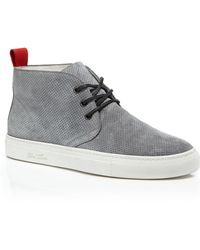 Del Toro Perforated Suede Chukka Sneakers - Lyst