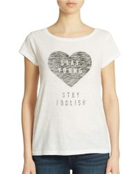 French Connection Heart Graphic Tee - Lyst
