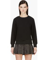 Surface To Air Black Textured Knit Stelly Sweater - Lyst