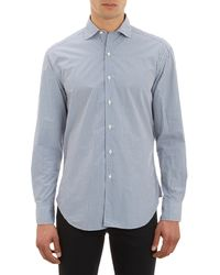 Barneys New York Checkpattern Shirt - Lyst