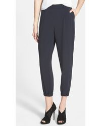 Trouvé Elastic Cuff Pleated Pants - Lyst