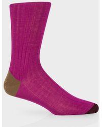 Paul Smith Fuchsia Socks With Contrasting Heel And Toe - Lyst
