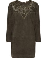 Isabel Marant Omaha Studded Suede Dress - Lyst