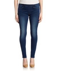 True Religion Blue Denim Leggings - Lyst