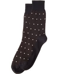 Versace Dot Print Crew Socks - Lyst