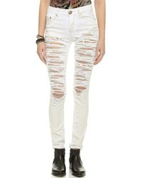 One Teaspoon Dirty White Yardbirds Jeans - Dirty White - Lyst