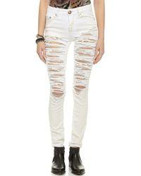 One Teaspoon Dirty White Yardbirds Jeans - Dirty White - Lyst
