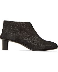 Barny Nakhle - Leather Paper Effect Boots - Lyst