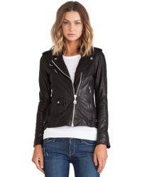 Doma Black Moto Jacket - Lyst