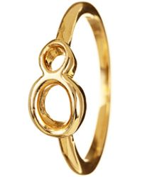 Lulu Frost - Code Number 14kt #8 Ring - Lyst