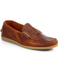 Walk-Over Parks Leather Boat Shoes - Lyst