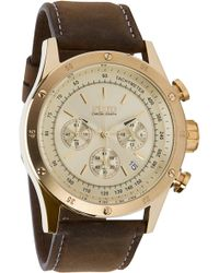 Flud Watches - The Frost Watch in Gold Link Chrono - Lyst