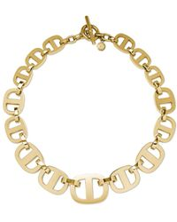 Michael Kors Goldtone Graduated Maritime Link Necklace - Lyst