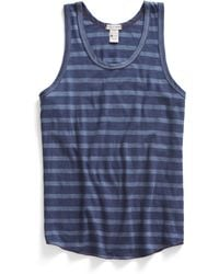 Todd Snyder X Champion Striped Tank Top In Mast Blue - Lyst
