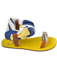 Avec Moderation Yellow Open Toe blue - Lyst