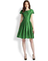 Armani Silk/Cotton Gabardine Dress - Lyst