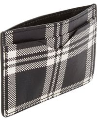 Alexander McQueen Plaid Card Case - Lyst