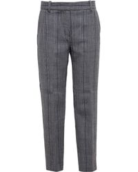 3.1 Phillip Lim Check Wool Trousers - Lyst