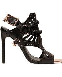 Ivy Kirzhner | 110mm Valentin Leather Cage Sandals | Lyst