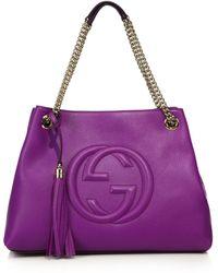 Gucci | Soho Leather Shoulder Bag | Lyst