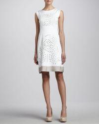 Lafayette 148 New York Elle Embellished Cutout Dress - Lyst