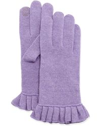 Portolano Cashmere-blend Ruffle Tech Gloves - Lyst