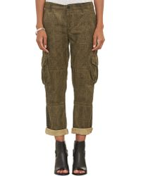 Bliss and Mischief - Check Print Cargo Trousers - Lyst
