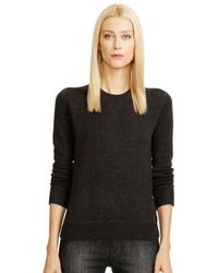 Ralph Lauren Black Label Cashmere Crewneck Sweatshirt - Lyst