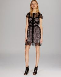 Karen Millen Dress Delicate Lace Collection - Lyst
