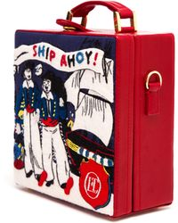 Olympia Le-Tan Ship Ahoy Felt Bag - Lyst
