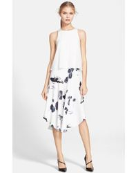 Tibi Women'S 'Lily Pads' Sleeveless Popover Dress - Lyst
