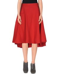 Y-3 Knee Length Skirt red - Lyst