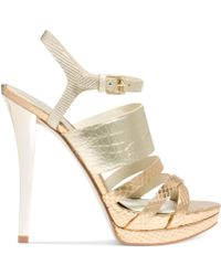 Michael Kors Michael Nadja Platform Evening Sandals - Lyst