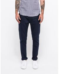Topman Navy Stretch Skinny Chino blue - Lyst