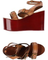 Isabel Marant Sandals brown - Lyst