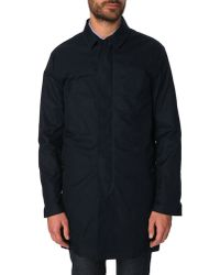 Celio Club Navy Trench Coat With Buttoning Flap Oyork blue - Lyst