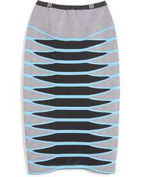 Alexander Wang Mesh Pencil Skirt - Lyst
